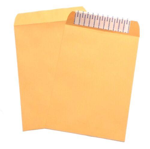 6 x 9 extrémité ouverte catalogue enveloppes 28# Marron Papier Kraft Peel /& Seal Fermeture 500 ct