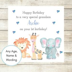 Image Is Loading PERSONALISED Birthday Card Boy Son Nephew Brother Grandson