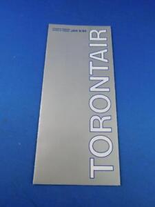 TORONTAIR-AIRLINE-TIMETABLE-JANUARY-1984-TRAVEL-ADVERTISING