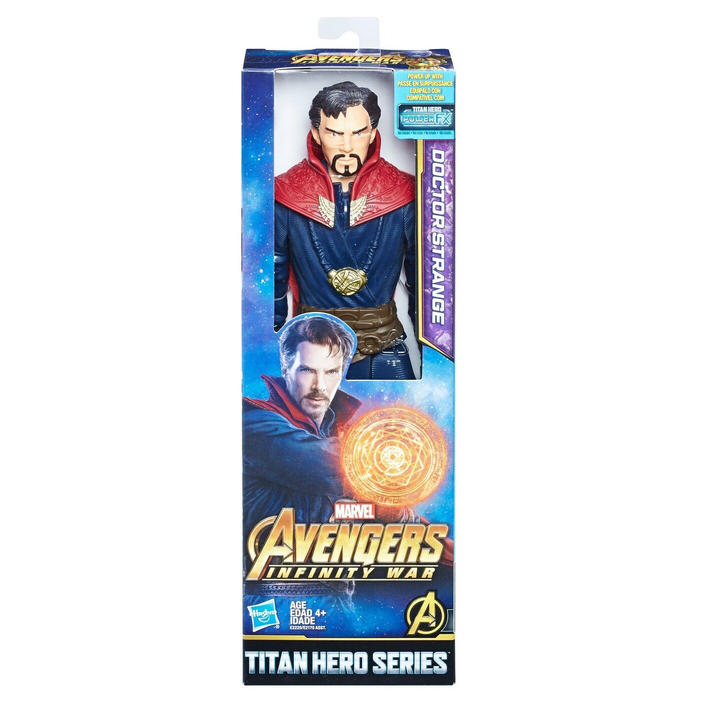 Marvel Infinity Guerra Titan Hero Series Doctor Strange con Titan Hero FX de energía