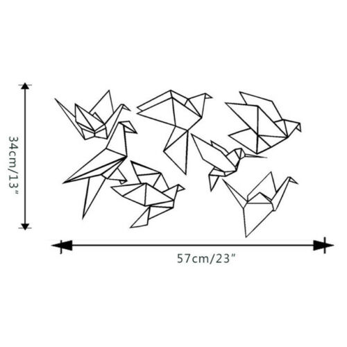 Wall Stickers Home Decor Vinyl Art Decals For Kids Room DIY Funny Origami Crane