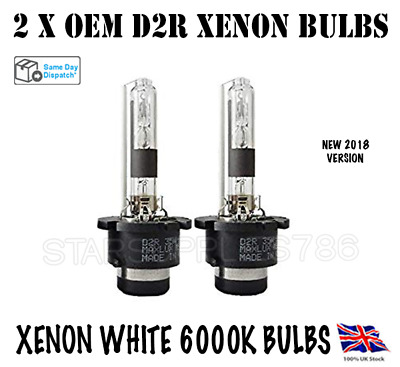 2X D2R XENON BULBS OEM HEADLIGHT REPLACEMENT 12V 35W 8000K VOLVO BMW MINI COOPER