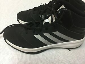 66d856e480 Details about Men's 9.5 Black High Top Adidas Basketball Shoes