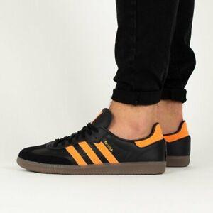 Details about Adidas Samba OG Mens 10 Black Leather / Fluor. Orange NEW Hamburg spezial trimm