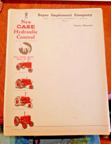 """1940/'S-1950/'S /""""VAC,SC,DC,LA/"""" Vintage CASE /""""VAC/"""" Series Tractors LETTER HEAD"""