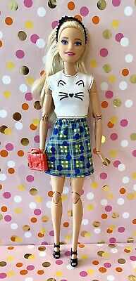 Hello kitty t shirt for Barbie dolls yellow top for Barbie doll made  to move  Barbie dolls