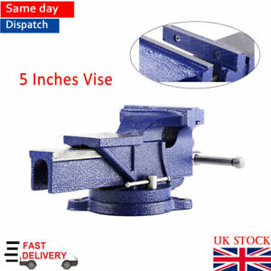 Excellent Details About 5 Inch Vice 3600 Swivel Base Workshop Vise Clamp Work Bench Heavy Duty Uk Seller Pabps2019 Chair Design Images Pabps2019Com