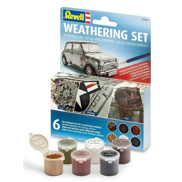 Byggesæt, Revell 39066 Weathering Set (6 Pigments).,…