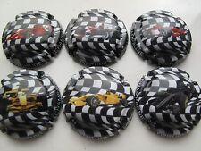 Série de  6 capsules de champagne Générique Formule 1 série limité