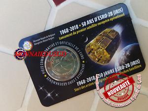 2 Euro CC Coincard BU Belgique 2018 - Satellite ESRO Version Française FR
