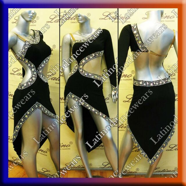 LATIN RHYTHM SALSA BALLROOM COMPETITION DANCE DRESS - SIZE S, M, L (LT713)