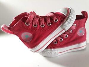 CONVERSE-Chuck-Taylor-Infant-Toddler-Girls-Hot-Pink-Hi-Top-Tennis-Shoes-Size-2