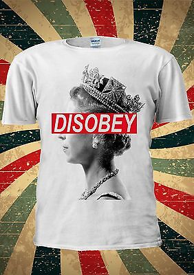 Brillante Queen Elizabeth Disobey Funny Tumblr Fashion T Shirt Uomini Donne Unisex 1757-mostra Il Titolo Originale