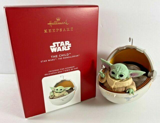 Star Wars The Child Mandalorian Ornament Baby Yoda 2020 Hallmark Keepsake