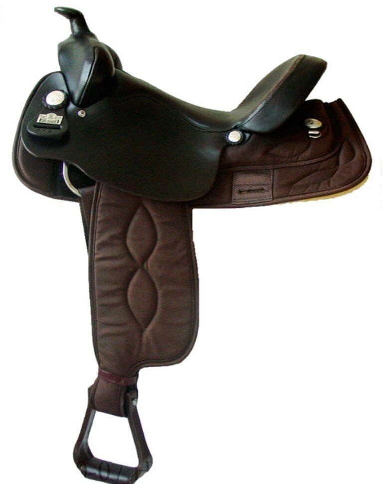 """Big Horn Synthetic Cordura Gaited Tree Lightweight Saddle Brown 16""""  NEW A00257"""