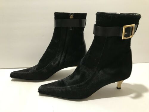 Gold Gabbana Heel Pony Poinlu 7 Zip Dolce Toe 5 37 Hair Black amp; Stivaletti wxFv4