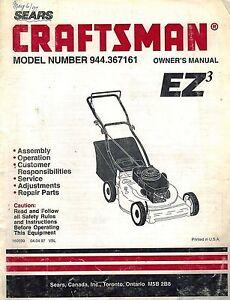 craftsman lawn mower manual 944