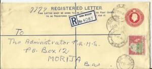 Basutoland-Registered-Postal-Envelope-HG-C5a-uprated-SG-72-ROMA-MISSION