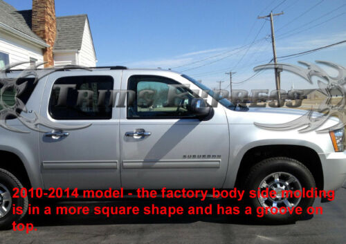 2010-2014 Avalanche//Suburban//Yukon XL Body Side Molding Overlay Trim Stainless