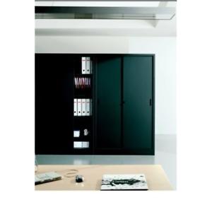 Armadi Archivio Ante Scorrevoli.Nsp02659 Armadio Archivio In Metallo Ufficio Ad Ante Scorrevoli Mis 150x45x200 A Ebay
