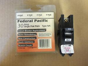new in box federal pacific fpe 1 pole 30 amp 120 240v. Black Bedroom Furniture Sets. Home Design Ideas