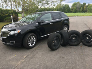 2014 Lincoln MKX  AWD Winter Tires on Rims, Extended Warranty