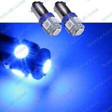 (2) Ultra Blue 5-SMD High Power Error Free H6W 64132 BA9s LED Bulbs