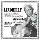 Complete Recorded Works, Vol. 5 (1944-1946) by Lead Belly (CD, Dec-1994, Document (USA))