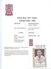 JIM TAYLOR FULHAM 1946-1953 RARE ORIGINAL HAND SIGNED PICTURE CUTTING