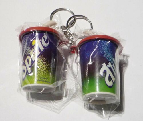SPRITE Soda Cup with Straw Limited Edition KEYCHAIN Keyring Novelty Coca Cola