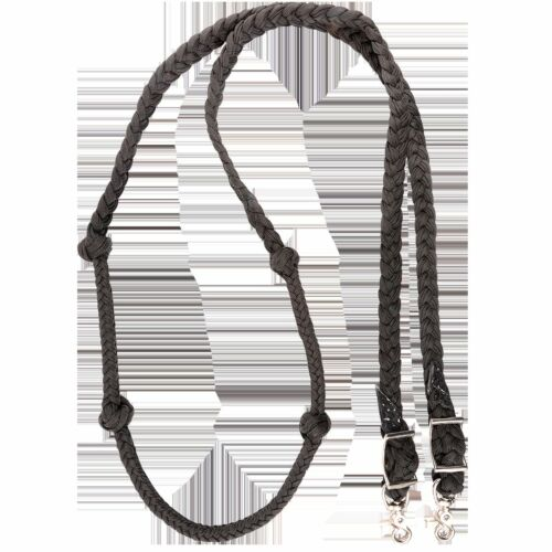 Martin Saddlery Purple Barrel Reins with Braided Knots Horse Tack Roping