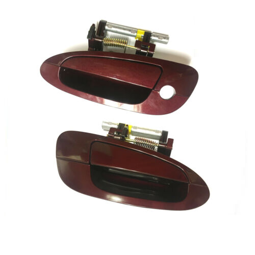 Exterior Door Handle Front Pair for 02-06 Nissan Altima A15 Sparkle Red DS149