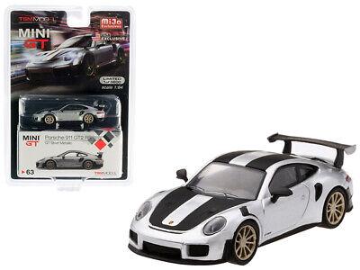 TSM Model Mini GT 1//64 Porsche 911 GT2 RS Weissach Package GT Silver Metallic