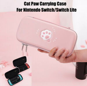 Cute-Cat-Paw-Carrying-Case-Pouch-Bag-Portable-For-Nintendo-Switch-Switch-Lite
