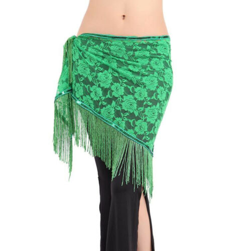 New Belly Dance Costumes Hip Scarf Wrap Belt Skirt Lace Tassels Triangle SALE