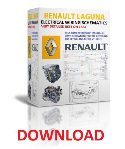 1994 TO 2008 RENAULT LAGUNA REPAIR MANUALS ELECTRICAL WIRING DIAGRAMS DOWNLOAD