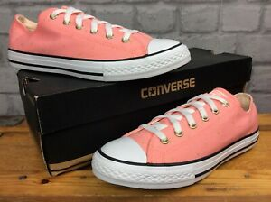 Details zu CONVERSE UK 5 EU 38 CHUCK TAYLOR ALL STAR LOW PINK GOLD STARS CANVAS TRAINERS LG
