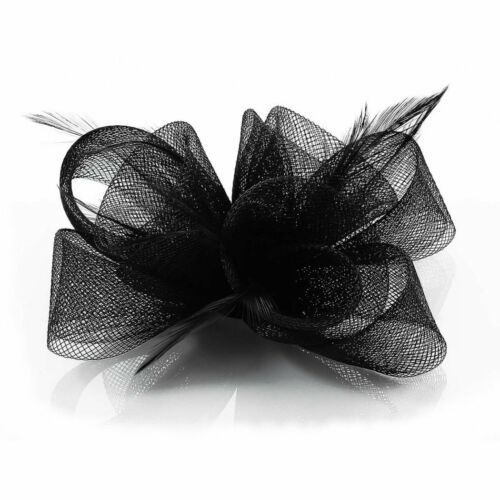 Ivory Black Purple Nude Fascinator Hair Accessories Wedding Ascot Prom Party New