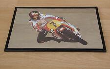 80er J. Motorrad Spiegelbild Suzuki - Barry Sheene