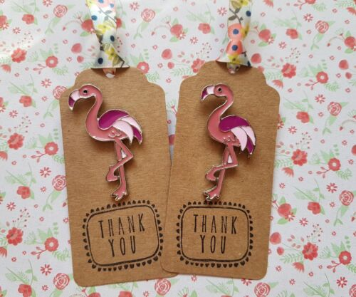 1 x Large Cute Pink Flamingo Pin Badge Gift Sister Friend Mum Teacher Aunty