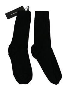 DOLCE & GABBANA Socks MId-Calf Black Wool Stretch Women Accessory s. S RRP $150