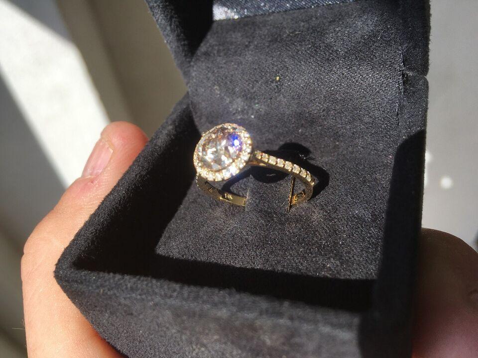 Fingerring, diamant, 1.78 ct diamantring