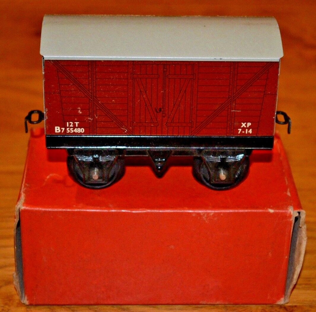 Hornby Series O Gauge;  No 30 Goods Van Original Box; VGC