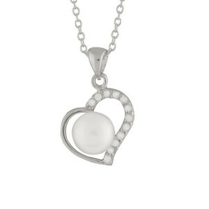 Heart-shape-Sterling-Silver-pendant-17-039-039-chain-with-7-8mm-button-pearl-NSR-202