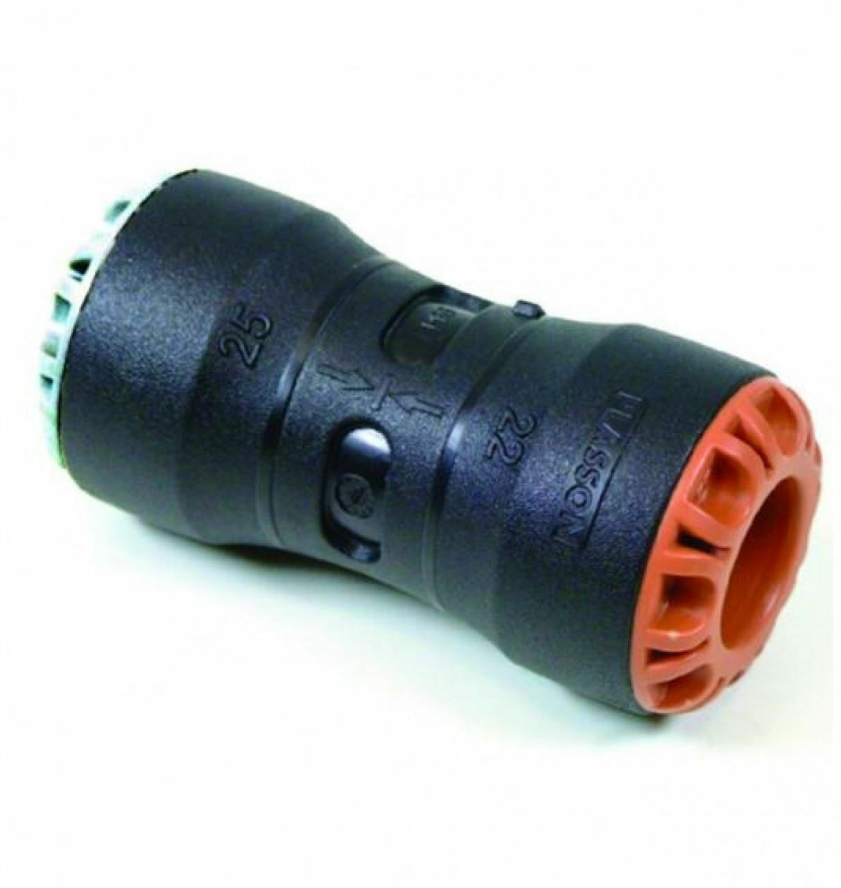 Plass-One Plass-One Plass-One 32 mm x 28 mm Push Fit MDPE di raccordo in ottone - 1001 C-confezione da 2 deacc0