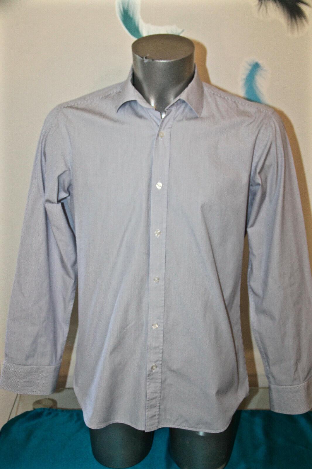 Luxuriöse Shirt Geringelt Blau Danyberd Größe 39-40 (S) wie Neu