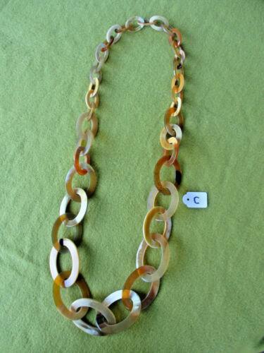 9690 a mano 99 cm de largo Collar de büffelhorn