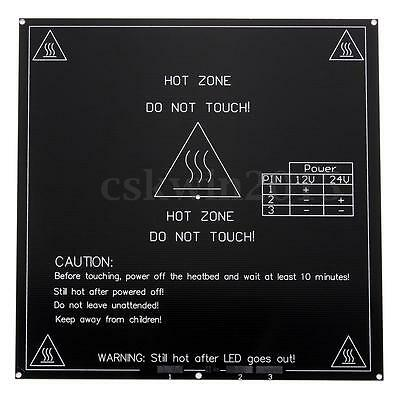 3D Printer 3MM Aluminum Board PCB Heatbed Heat Bed for MK3 Reprap Prusa Mendel