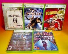 Crackdown Risen Two Worlds Borderlands Elder Scrolls  Microsoft Xbox 360 5 Games