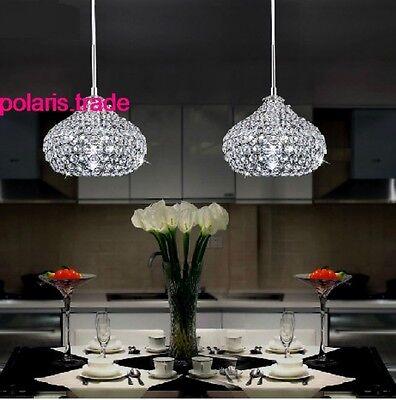 3 Light with long base LED Crystal pendant Lamp Kitchen Bar ceiling Lighting